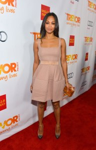 ZOE SALDANA at The Trevor Project's Trevor Live Event