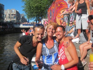 Me and good friend  Jaap and our funny new and sweet friend Laura