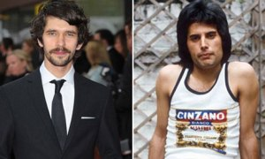 Ben Whishaw (left), who has signed up to play Freddie Mercury (right) in a new biopic