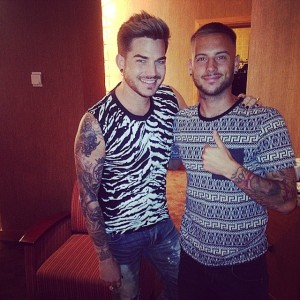adam lambert and footballer anton hysen