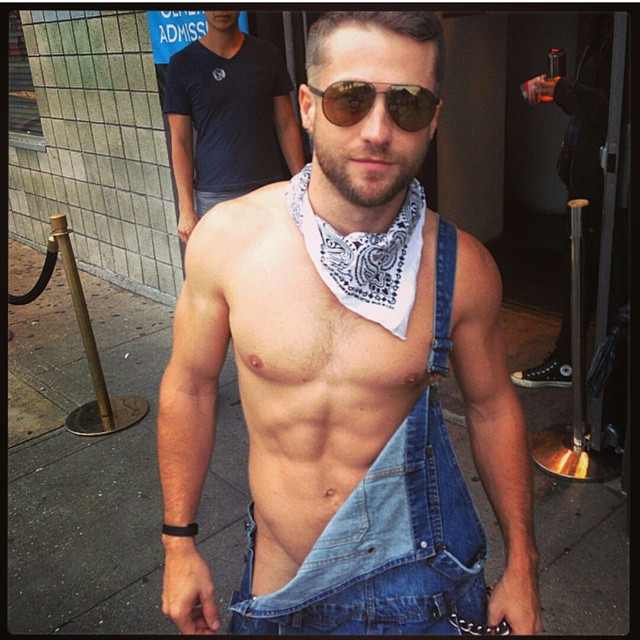colby melvin got down to his overalls