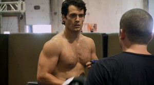 henry cavill shirtless man of steel
