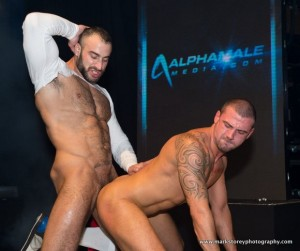 HUSTLABALL-London-2012-XXX-Gay-Porn-Sex-Show-1-Spencer-Reed-Fucks-Marco-Sessions