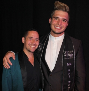 Lesley and Mister Gay World 2015 Klaus Burkhart