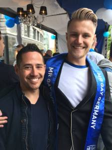 Lesley and First Runner Up Mister Gay Germany 2015 Aaron Koenigs